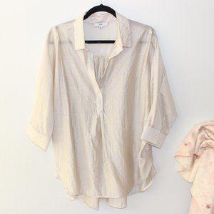 Fate Cream 3/4 Sleeve Blouse M